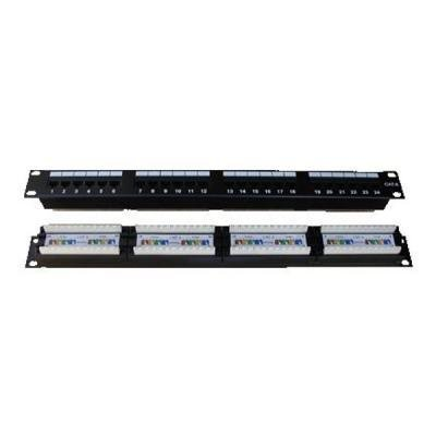 "Patch panel DATACOM 19"" UTP 24 portů cat.6 DUAL"