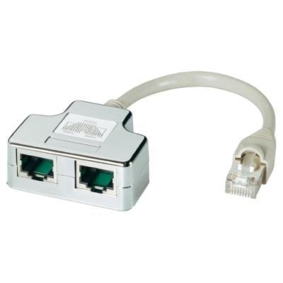 Rozdvojka DATACOM STP cat.5e RJ45 PC/PC+TEL