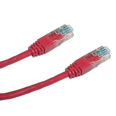 Patch kabel DATACOM UTP cat.5e 0,25m červený