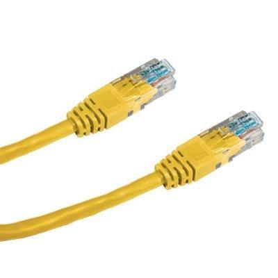 Patch kabel DATACOM UTP cat.5e 0,5 m žlutý