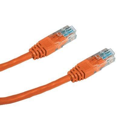 Patch kabel DATACOM UTP cat.5e 0,5 m oranžový