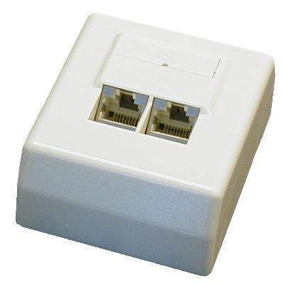 Datová zásuvka DATACOM STP cat.5e 2x RJ45 45°