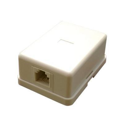 Telefonní zásuvka DATACOM UTP cat.3 RJ45 šedá