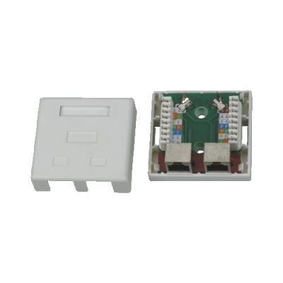 Datová zásuvka DATACOM STP cat.5e 2x RJ45