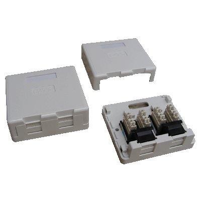 Datová zásuvka DATACOM UTP cat.5e 2x RJ45