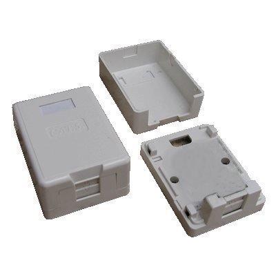 Datová zásuvka DATACOM neosazená 1x RJ45