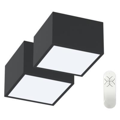 IMMAX NEO CANTO 12W černé 2ks + dálkový ovladač