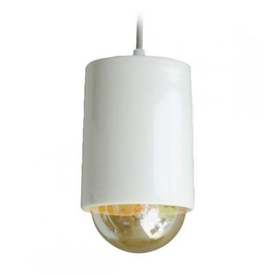 TESLA interiérové svítidlo/ porcelánové/ TUBIK/ 11x16 cm/ bílé
