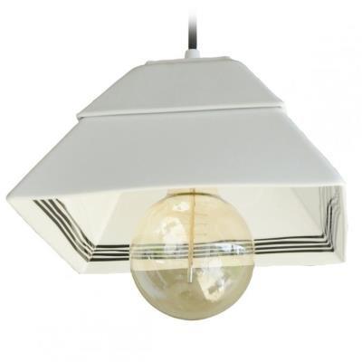 TESLA interiérové svítidlo/ porcelánové/ PYRAMIDA I/ 23xx23x15 cm/ černo-bílé