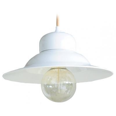 TESLA interiérové svítidlo/ porcelánové/ KLOBOUK ALŽBĚTA/ 29x16 cm/ bílé
