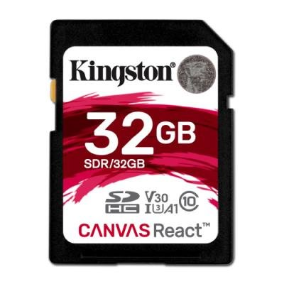 Paměťová karta Kingston Canvas React SDHC 32GB