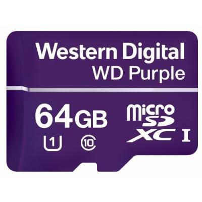 WD PURPLE 64GB MicroSDXC / CL10 / UHS 1(U1) /