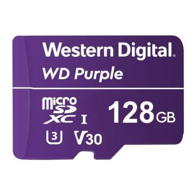 WD PURPLE 128GB MicroSDXC / CL10 / UHS 1(U3) /