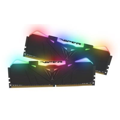 PATRIOT Viper RGB 16GB DDR4 Black 3200 MHz / DIMM / CL16 / Heat shield / KIT 2x 8GB