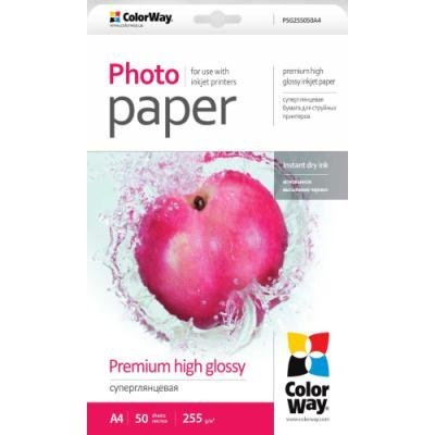 Fotopapír ColorWay Premium High Glossy A4 50 ks