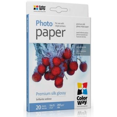 Fotopapír ColorWay Premium Silk Glossy 20 ks