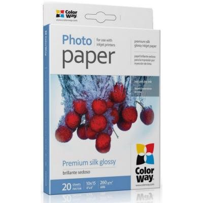 Fotopapír ColorWay Premium Silk Glossy 50 ks