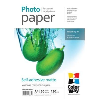 Fotopapír ColorWay Matte Self-adhesive A4 50ks