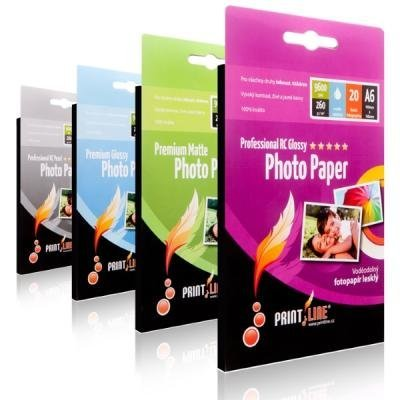 Fotopapír PrintLine A6 Premium matte 230g/m2, matný, 20-pack