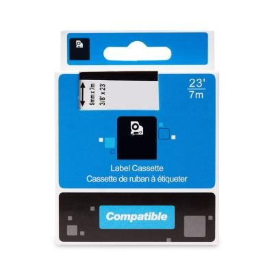 PRINTLINE kompatibilní páska s DYMO 40913 S0720680, 9mm, 7m, černý tisk / bílý podklad, D1