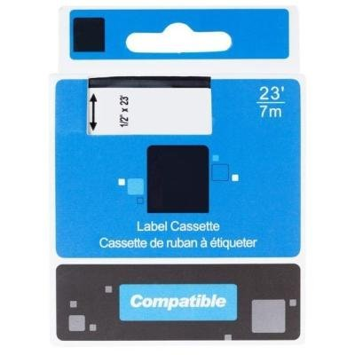 PRINTLINE kompatibilní páska s DYMO 43613, S0720780, 6mm, 7m, černý tisk/bílý podklad, D1