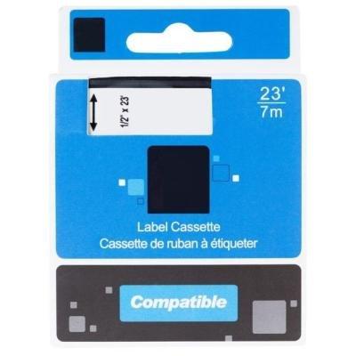 PRINTLINE kompatibilní páska s DYMO 43618, S0720790, 6mm, 7m, černý tisk/žlutý podklad, D1