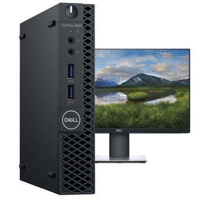 DELL OptiPlex 3060 Micro MFF/ i5-8500T/ 8GB/ 256GB SSD/ Wifi/ W10Pro/ Micro MFF PC/ 3YNBD + monitor P2419H
