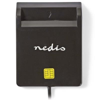 NEDIS čtečka čipových karet CRDRU2SM2BK/ Smart Card ID-1/ eObčanka/ standardní biometrické čipy/ USB 2.0/ černá