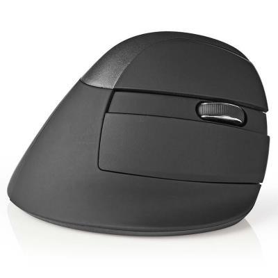 NEDIS myš ERGOMSMWS100BK/ bezdrátová/ optická/ ergonomická/ Mini/ 1600 dpi/ 6tlačítková/ USB/ černá