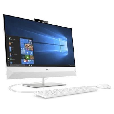 """HP Pavilion 27-xa0012nc AiO/ i5-9400T/ 16GB DDR4/ 512GB SSD + 2TB (5400)/ GTX1050 4GB/ 27"""" FHD IPS/ W10H/ bílý+kbd,myš"""