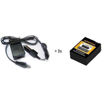 Nabíječka PATONA + 2 x baterie GoPro AHDBT-201
