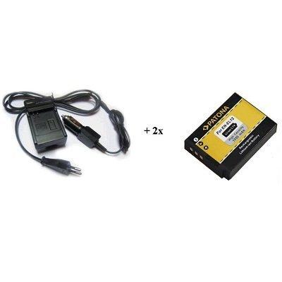 Nabíječka PATONA + 2 x baterie Nikon EN-EL12