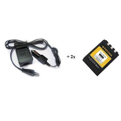 Nabíječka PATONA + 2 x baterie Olympus Li10B Li12B