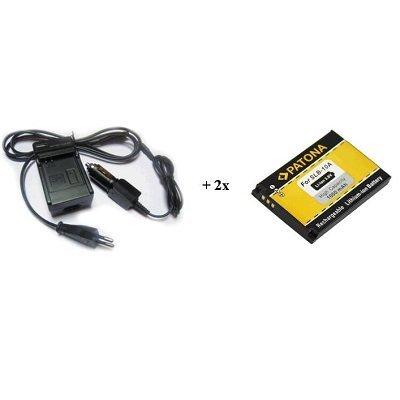 Nabíječka PATONA + 2 x baterie Samsung SLB10A