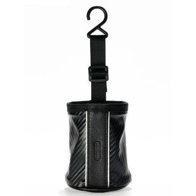 REMAX batůžek do auta CS-001 / vhodné pro mob. Tel., klíče, brýle / černý