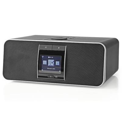 NEDIS internetové rádio/ výkon 42W/ FM/ DAB+/ Internet/ Bluetooth®/ Wi-Fi/ USB/ 3,5mm jack/ černé