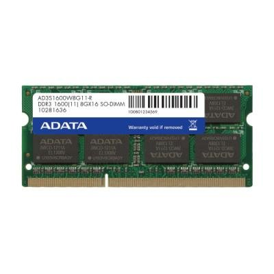 ADATA RAM 8GB DDR3 1600MHz / SO-DIMM / CL11 / 1,5V