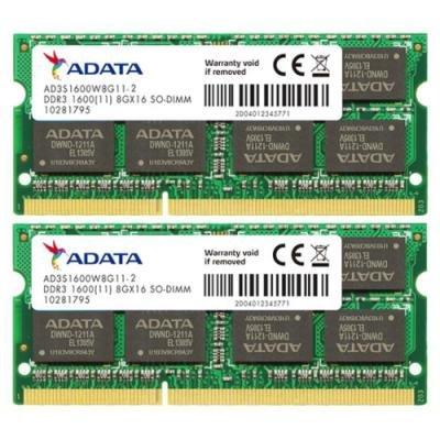 Operační paměť ADATA Premier DDR3 16 GB 1600 MHz