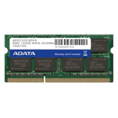 ADATA Premier 8GB DDR3 1333MHz / SO-DIMM / CL9 /