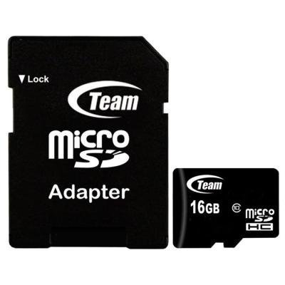 TEAM 16GB Micro SDHC/ Class 10/ + SD adaptér
