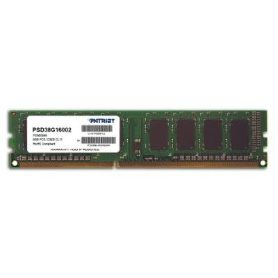 PATRIOT Signature 8GB DDR3 1600MHz / DIMM / CL11 / SL PC3-12800
