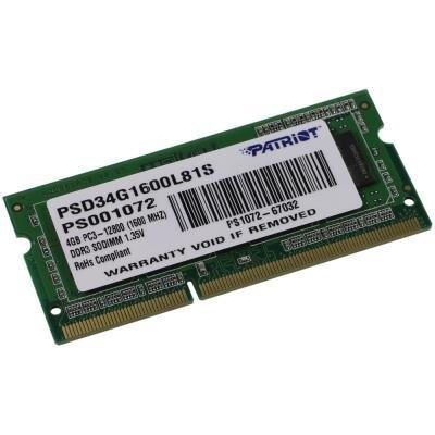 Operační paměť Patriot 4GB DDR3 1600MHz