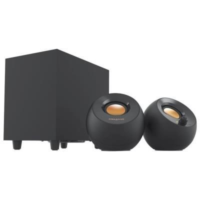 CREATIVE PEBBLE PLUS, reproduktory 2.1, USB, černé