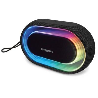 CREATIVE repro HALO, bluetooth, přenosné s programovatelnými světelnými efekty, jack, USB
