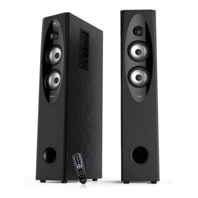 FENDA F&D repro T-60X/ 2.0/ 110W/ černé/ dřevěné/ BT4.0/ NFC/ FM rádio/ USB přehrávání/ dálkové ovládání/ Karaoke
