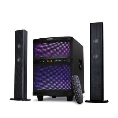 ROZBALENÉ - FENDA F&D repro T-200X/ 2.1/ 70W/ černé/ BT4.0/ FM rádio/ USB přehrávání/ dálkové ovládání