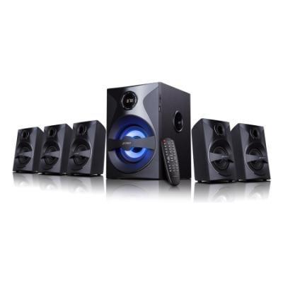 POŠKOZENÝ OBAL - FENDA F&D repro F3800X/ 5.1/ 80W/ černé/ FM rádio/ USB/SD přehrávání/ dálkové ovládání