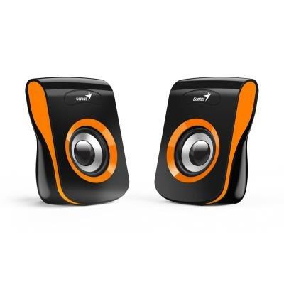 Reproduktory Genius SP-Q180 černo-oranžové