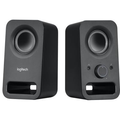 Logitech repro Z150 Multimedia Speakers/ 2.0/ 3W/ 3.5mm jack/ Midnight black-černý