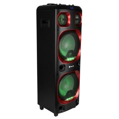 NGS WILDSKA2/ BT repro/ 800W/ TWS/ MEGABASS/ LED/ USB/ SD slot/ Černé